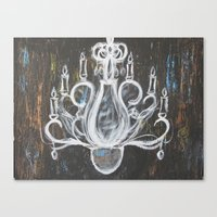 rock n roll Canvas Prints featuring Rock N Roll Chandelier by Tiffany James