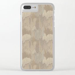 Vintage Abstract Texture in Caramel Tans and Beige Clear iPhone Case