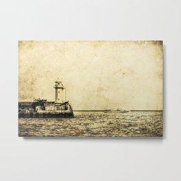 Old Lighthouse (vintage) Metal Print