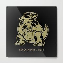PokéRappers: Kangaskhanye West Metal Print