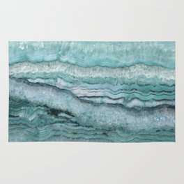 Mystic Stone Aqua Teal Rug