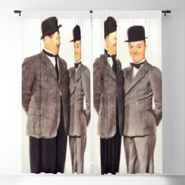 Laurel and Hardy Blackout Curtain