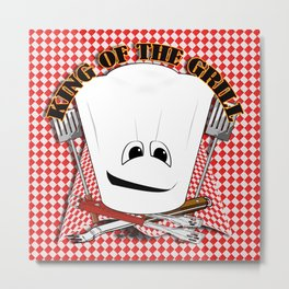 King of the Grill Metal Print