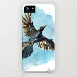 Flying Grackle iPhone Case