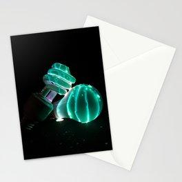 Night Bright Light Bulb Stationery Cards