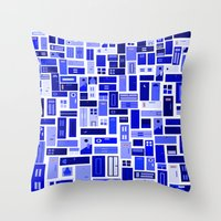 doors Throw Pillows featuring Doors - Blues by Finlay McNevin