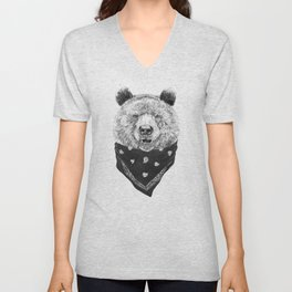Wild bear Unisex V-Neck