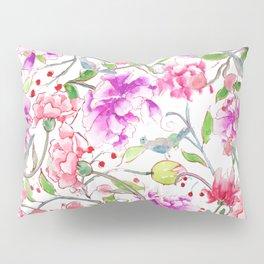 peony pattern Pillow Sham