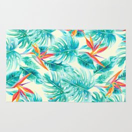 Tropical Paradise Pale Yellow Rug