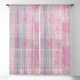 cats new colour 626 Sheer Curtain