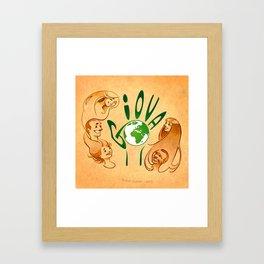 Around the world (Giova) Framed Art Print