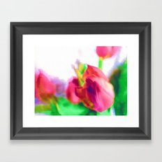 Harborough Tulips - Watercolour Paiting Framed Art Print