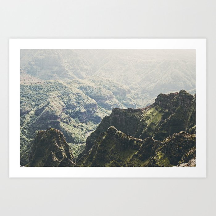 Hawaii Green Art Print