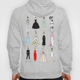 Outfits of Audrey Hepburn Fashion (White) Hoody
