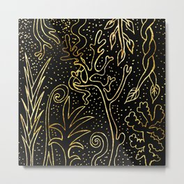 forest of pure gold Metal Print