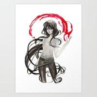 marceline Art Prints featuring Marceline by Mirlolo