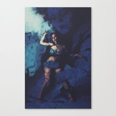 Caught by Blue Canvas Print