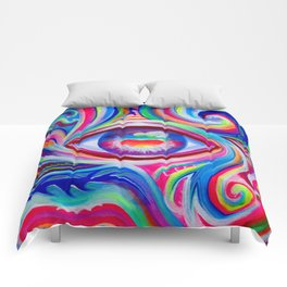 """Eye love you too"" by Audreana Cary & Adam France Comforters"