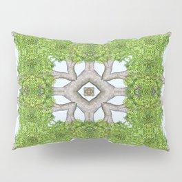 Bark Leaves Stone Kaleidoscope Art 8 Pillow Sham