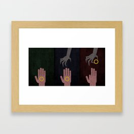 Lord of the Rings Minimalist Posters: Trilogy Framed Art Print