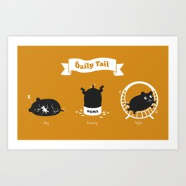 The Daily Tail Hamster Art Print