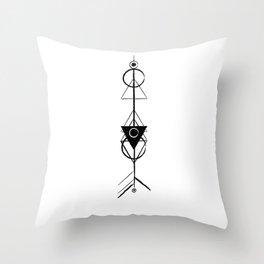 native rocket Throw Pillow
