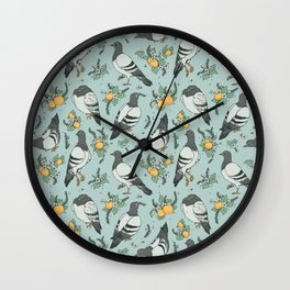 Pigeons, Apricots, and Thyme Wall Clock