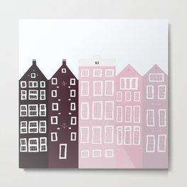 pink buildings design  Metal Print