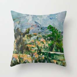 Mont Sainte Kaiju Throw Pillow