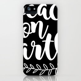Peace On Earth Merry Christmas Xmas Holiday Love iPhone Case