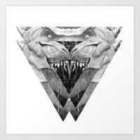 trex Art Prints featuring TREX by moln4rt
