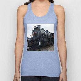 Vintage Railroad Steam Train Unisex Tank Top