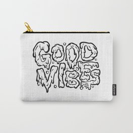 Good Vibes (Black & White_ Carry-All Pouch