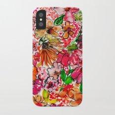 Wildflower Red iPhone X Slim Case