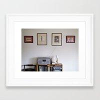 radio Framed Art Prints featuring Radio by Liz Morrison Smith