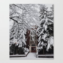 Snow in Portland Canvas Print