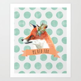 MS. RED FOX Art Print