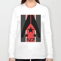n7 Long Sleeve T-shirts featuring N7 MASS EFFECT by MDRMDRMDR