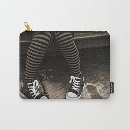 Striped Socks & Sneakers Carry-All Pouch