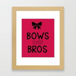 Bows over bros Framed Art Print