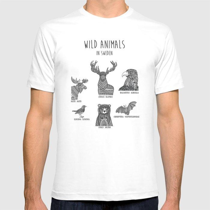 Wild animals in Sweden T-shirt