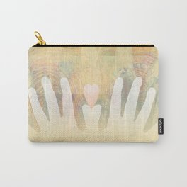 Healing Hands Yellow Carry-All Pouch