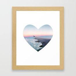 Love Flying Framed Art Print