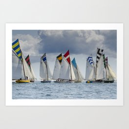 Falmouth Working Boats Art Print
