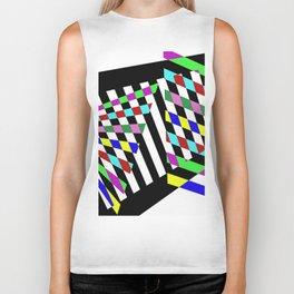 Lost Dimension - Abstract 3D style, multicoloured, geometric artwork Biker Tank