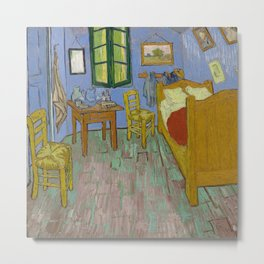 The Bedroom, Vincent van Gogh  Metal Print