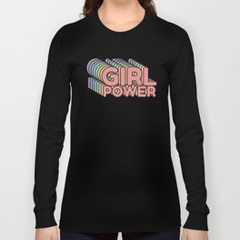 Girl Power grl pwr Retro Long Sleeve T-shirt