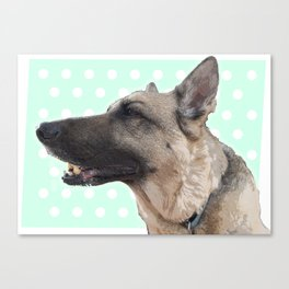 Lucy German shepherd Canvas Print
