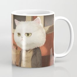 A cat waiting for someone Coffee Mug