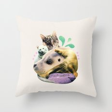 furry on the meowsea Throw Pillow